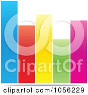 Royalty Free Vector Clip Art Illustration Of A Colorful Bar Graph