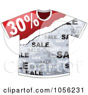 Royalty Free Vector Clip Art Illustration Of A Thirty Percent Discount On A T Shirt by Andrei Marincas