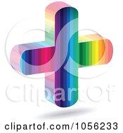 Royalty Free Vector Clip Art Illustration Of A Rainbow Medical Cross