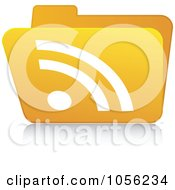 Royalty Free Vector Clip Art Illustration Of A Yellow 3d RSS Folder 3 by Andrei Marincas