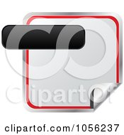 Royalty Free Vector Clip Art Illustration Of A Black Label Over A Red And White Peeling Sticker