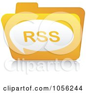 Royalty Free Vector Clip Art Illustration Of A Yellow 3d RSS Folder 2 by Andrei Marincas
