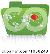 Royalty Free Vector Clip Art Illustration Of A Green 3d Atlas Folder by Andrei Marincas