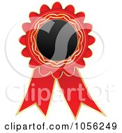 Royalty Free Vector Clip Art Illustration Of A Red And Gold Rosette Ribbon