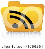 Royalty Free Vector Clip Art Illustration Of A Yellow 3d RSS Folder 4 by Andrei Marincas