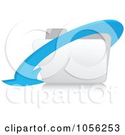 Royalty Free Vector Clip Art Illustration Of A 3d Blue Arrow Around A White Folder 1 by Andrei Marincas