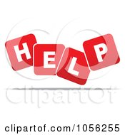 Royalty Free Vector Clip Art Illustration Of Red And White Help Medical Blocks
