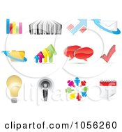 Royalty Free Vector Clip Art Illustration Of A Digital Collage Of Business And Web Icons by Andrei Marincas