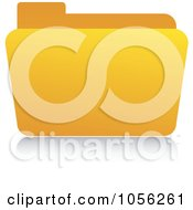 Royalty Free Vector Clip Art Illustration Of A Yellow 3d Folder And Reflection by Andrei Marincas