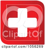 Royalty Free Vector Clip Art Illustration Of A Red And White Medical Cross by Andrei Marincas #COLLC1056269-0167