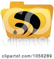Royalty Free Vector Clip Art Illustration Of A Yellow 3d RSS Folder 1 by Andrei Marincas