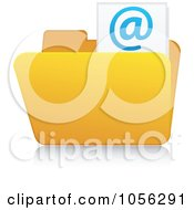 Royalty Free Vector Clip Art Illustration Of A Yellow 3d Email Folder And Reflection 2 by Andrei Marincas