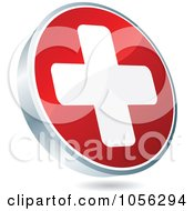 Royalty Free Vector Clip Art Illustration Of A Red And White Medical Cross Icon