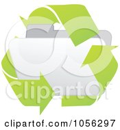 Royalty Free Vector Clip Art Illustration Of A White 3d Recycle Folder by Andrei Marincas