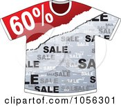 Royalty Free Vector Clip Art Illustration Of A Sixty Percent Discount On A T Shirt by Andrei Marincas