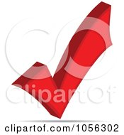 Royalty Free Vector Clip Art Illustration Of A 3d Red Check Mark by Andrei Marincas #COLLC1056302-0167