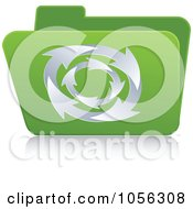 Royalty Free Vector Clip Art Illustration Of A Green 3d Folder With Circling Arrows