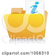 Royalty Free Vector Clip Art Illustration Of A Yellow 3d Info Folder And Reflection by Andrei Marincas