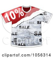 Royalty Free Vector Clip Art Illustration Of A Ten Percent Discount On A T Shirt by Andrei Marincas