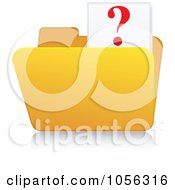 Royalty Free Vector Clip Art Illustration Of A Yellow 3d Question Folder And Reflection