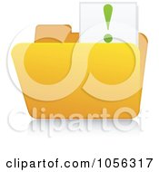 Royalty Free Vector Clip Art Illustration Of A Yellow 3d Idea Folder And Reflection by Andrei Marincas