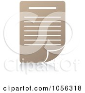 Royalty Free Vector Clip Art Illustration Of A Tan Paper Document Icon