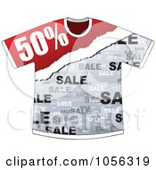 Royalty Free Vector Clip Art Illustration Of A Fifty Percent Discount On A T Shirt by Andrei Marincas