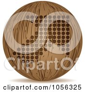Royalty Free Vector Clip Art Illustration Of A 3d Wooden Arrow Sphere Icon