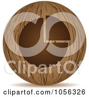 Royalty Free Vector Clip Art Illustration Of A 3d Wooden Pie Chart Sphere Icon by Andrei Marincas