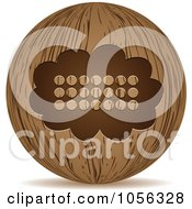 Royalty Free Vector Clip Art Illustration Of A 3d Wooden Thought Balloon Sphere Icon by Andrei Marincas