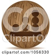 Royalty Free Vector Clip Art Illustration Of A 3d Wooden Bar Graph Sphere Icon by Andrei Marincas