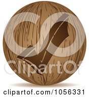 Royalty Free Vector Clip Art Illustration Of A 3d Wooden Check Mark Sphere Icon