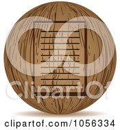 Royalty Free Vector Clip Art Illustration Of A 3d Wooden Document Sphere Icon