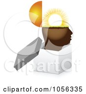 Royalty Free Vector Clip Art Illustration Of A Sunny Brain In An Open 3d Box by Andrei Marincas