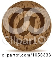 Royalty Free Vector Clip Art Illustration Of A 3d Wooden Email Sphere Icon