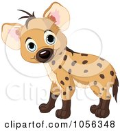 Royalty-Free Vector Clip Art Illustration of an Adorable Baby Boy Hyena Standing by Pushkin