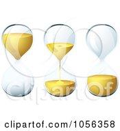 Digital Collage Of 3d Egg Timer Hourglasses