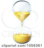 Royalty Free Vector Clip Art Illustration Of A 3d Egg Timer Hourglass Running Out Of Time by michaeltravers
