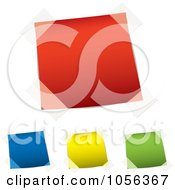 Royalty Free Vector Clip Art Illustration Of A Digital Collage Of Taped Colorfu Notes by michaeltravers