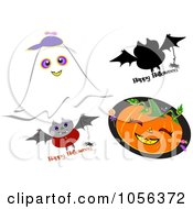 Digital Collage Of Halloween Designs
