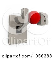 Royalty Free CGI Clip Art Illustration Of A 3d JOB Switch by 3poD