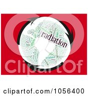 Royalty Free CGI Clip Art Illustration Of Arrows Circling A Radiation Word Collage Globe by MacX