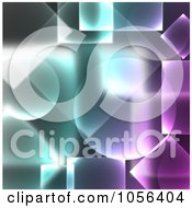 Royalty Free CGI Clip Art Illustration Of A Abstract Purple And Blue Geometric Background