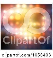 Royalty Free CGI Clip Art Illustration Of A Background Of Blurred Glowing Lights