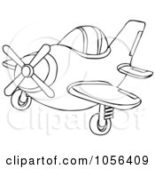 Royalty Free Vector Clip Art Illustration Of A Coloring Page Outline Of A Small Plane by djart