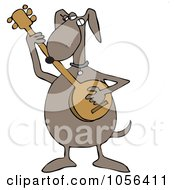 Royalty Free Vector Clip Art Illustration Of A Dog Playing A Banjo