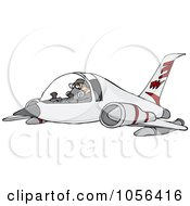 Royalty Free Vector Clip Art Illustration Of A Pilot Flying A Jet by djart