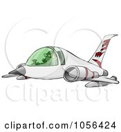 Royalty Free Clip Art Illustration Of A Man Flying A Jet