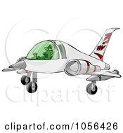 Royalty Free Clip Art Illustration Of A Man Landing A Jet by djart