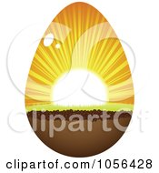 Royalty Free Vector Clip Art Illustration Of A Sunrise Eater Egg by Andrei Marincas